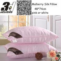 pure Mulberry Silk Pillow /Five-Star Hotel/100% Feather Silk/Light Pillows/Zero Pressure Memory Neck Health/Textile bedding