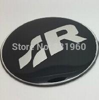 4PCS 60MM VW R Cambered Surface Car Motor Auto Wheel Rims Center Emblem Badges Aluminum Alloy Resin