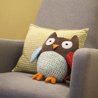 SKP stuffed plush owl toy baby hug and hide cushion pillow