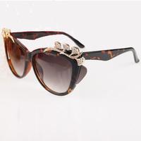 New British wind sunglasses  European and American fashion sunglasses  big box set 92 drill extreme luxury glasses