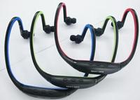 New 2014 Sport Wireless Earphones Headphones Music MP3 Player TF Card FM radio Headset #40806