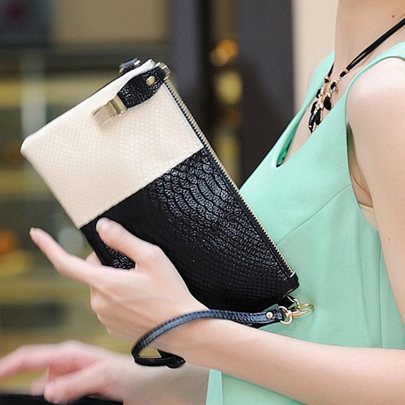 2014 Fashion classic Genuine Leather bolsas women leather Handbags Women's Clutches Purse Fold ipad mini bags(China (Mainland))