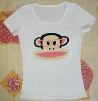 TXS004 fashion monkey women cotton t shirt