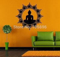 FREE SHIPPING Religion Home stickers Decals Art Wall decor Mural Vinyl SG104 Buddha  55*55cm