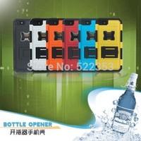 For iPhone 5 5s Shockproof Anti-knock Rugged Hybrid Beer Bottle Opener Slide Hard Case with Stand