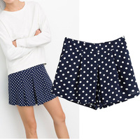 New 2014 Fashion spring and summer skirts womens European style Polka Dot ladies fashion chiffon skirt pants shorts culottes