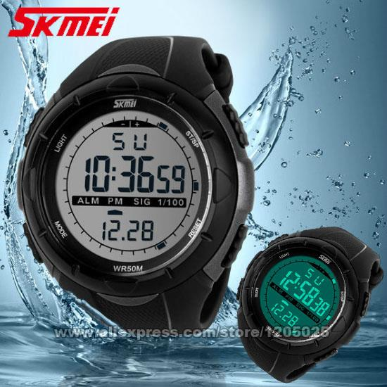 SKMEI Men Sports Watches Male Dress Clock 5ATM Dive Swim Fashion Digital Watch Army Military Multifunctional Wristwatches 1025(China (Mainland))