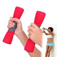 New 0.75Kg Red Sponge Type Fitness Dumbbell women's fitness dumbbell Arms For Fitness Gym sports goods equipment Free Shipping