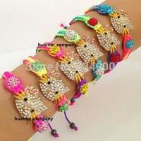 wholesale DHL/EMS Free Shipping Shamballa Bracelet  Kids Child Girl  gift High Quality 10mm Crystal AB Clay Disco Ball Bangles