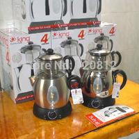 King Germany Electric Samovar K-824 Turkish Kenya Brown Tea Kettle UK imported temperature controller glass teapot filter 220V