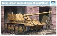 Trumpeter model 01587 1/35 Germany Krupp/Ardelt Waffentrager 88mm PAK-43 Thank model kit