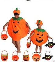 Halloween pumpkin cosplay clothing, children's green clothing, children clothing pumpkin, pumpkin adult clothes