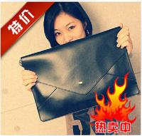 Fashion color block messenger bag   vintage women's handbag