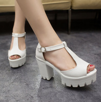 2014 women's summer shoes gauze open toe sandals platform shoes female thick heel platform high heels female sandals