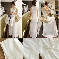 high quality casual maxi long dresses women new spring 2014 summer dress chiffon dress S-XXL free shipping