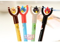 Min. order is $15 (mix order)  b161 Hot Sale Stationery Originality Cartoon ball-point pen Slingshot toy pen School supplies