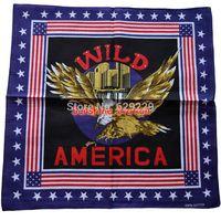 "america wild soaring eagle fly hawk star 100% Cotton hiphop rap bboy Bandana wrap scarf Headband 22""*22"" Free Shipping"