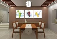 3pieces Decorative wall painting  Grape fruit modern home decorative painting  Painted canvas painting   Free Shipping