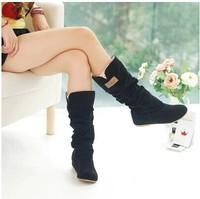 New Arrival fashion women Medium-leg boots, Autumn and Winter sexy inside Heighten snow boots, size EU 34-43!