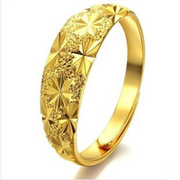 100% Gurantee promotion bridal jewelry 18K yellow gold plated flower shape women ring adjustable size, wholesaler J008