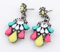 Elegent Faux Stone Drop Earrings 2014 New Fashion Statement Earrings  cxt6271
