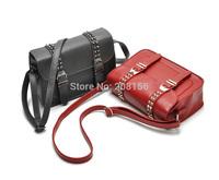 Fashion handsome already set bag riveted messenger bag trending small satchel women handbag 2 colors availabel Free Shipping