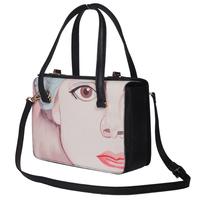 Free shipping Fashion 2014 beauty one shoulder handbag women's handbag  print characters bags