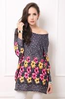 Factory Detail Sale !Women Wide Fashion Print T-shirt Plus size