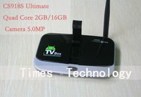 CS918S Ultimate Android 4.2.2 TV BOX 5.0MP Camera Microphone Allwinner A31S Quad Core 2G/16G XBMC Bluetooth 3G 4K WIFI,CS918S