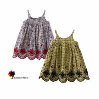 New Children Clothing Girls Summer Embroidery Lace Floral Dot Dress Children Dress