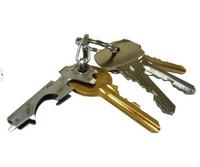 Stainless Steel Key Beer Bottle Opener Keytool Multifunction Supplies Eye Glasses Screwdriver Nail File Spanner Creative Gift