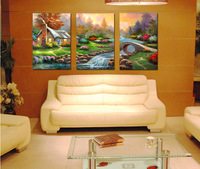 3pieces Wall painting Thomas classical home decorative oil painting  Painted canvas painting   Free Shipping