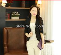 2014 summer women blazer slim one button half sleeve suit plus size 5XL- 6XL blaser women outerwear fashion suits