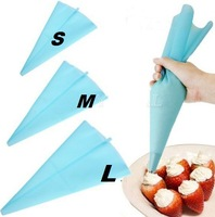 3 Sizes Reusable Silicone Cake Pastry Bag Ice Cream Piping Bag Cupcake Dessert Decorating Sugarcraft Cake Tools