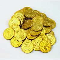 100x PLASTIC GOLD PIRATE TREASURE COINS LOOT GOODY PARTY BAG PINNATA FILLERS TOYS HALLOWEEN PARTY PROM SUPPLIES BAR CLUB TOY