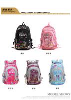 2014 new Flower child school bag in primary school students school bag male  backpack ultra-light waterproof
