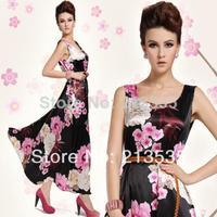 2014 noble peony with elegant cherry senior brocade vest dress dress Free shipping