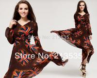 2014 New women's South Korea chiffon velvet, Yonago flag dress Free shipping