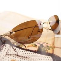 2014 new fashion leopard head sunglasses designer big brand sunglasses wholesale