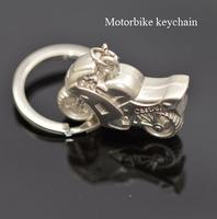 Free shipping lovely creative Simulation Model Motorcycle Motorbike Keychain Key Chain Ring Key Fob