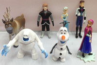 7 pcs frozen action figures brinquedos boys anime toys frozen doll meninos olaf princess elsa 2014 hot sell frozen