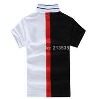 Free Shipping 2014 Brand Men Slim Fit Shirts For Men Brand Lapel Polo Shirt Polo Sleeve Shirt 100% cotton (S-M-L-XL-XXL) 2