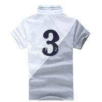 Free Shipping 2014 Brand Men Slim Fit Shirts For Men Brand Lapel Polo Shirt Polo Sleeve Shirt 100% cotton (S-M-L-XL-XXL)