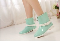 free shipping women rainboots new Korean version of the candy-colored Martin Short boots  size(36-40)