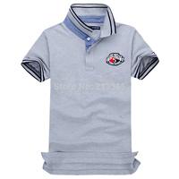 Free Shipping 2014 Brand Men Slim Fit Shirts For Men Brand Lapel Polo Shirt  Sleeve Shirt 100% cotton (S-M-L-XL-XXL)