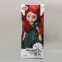 "Free Shipping Animators Collection Princess Brave Merida Doll PVC Action Figure Girls Dolls Toys Gifts 16""40CM DSFG108"