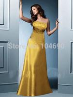 freeship,New Debutante dress,bridesmaid dress, cocktal dress,A-line , stain,gold