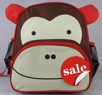 Animal Monkey style kids back pack good quality canvas Children's backpacks also can use as School bag 15 Colors Option