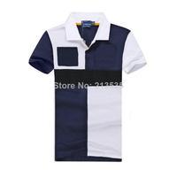 Free Shipping 2014 Brand Men Slim Fit Shirts For Men Brand Lapel Polo Shirt Short sleeve Mixed colors Shirt 100% cotton 3