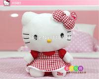 25cm red hello kitty toys plush hello kitty plush soft toys stuffed hello kitty  kids toy baby toy one piece free shipping